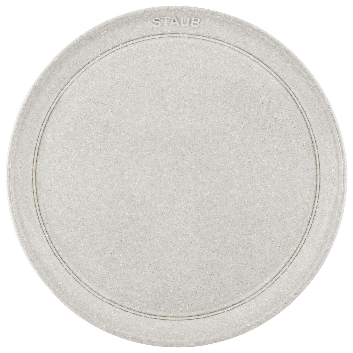 26 cm Ceramic round Assiette flat, White Truffle,,large 2