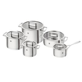 ZWILLING Vitality, Set de casseroles, 10-pcs | round | 18/10 Stainless Steel