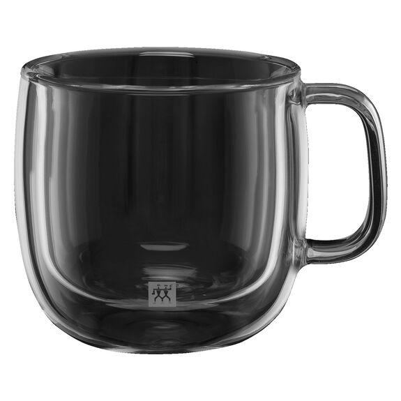 Çift Camlı Kulplu Cappuccino bardağı seti, 2-parça,,large 2