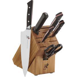 MIYABI Red Morimoto Edition, 7-pc Knife Block Set