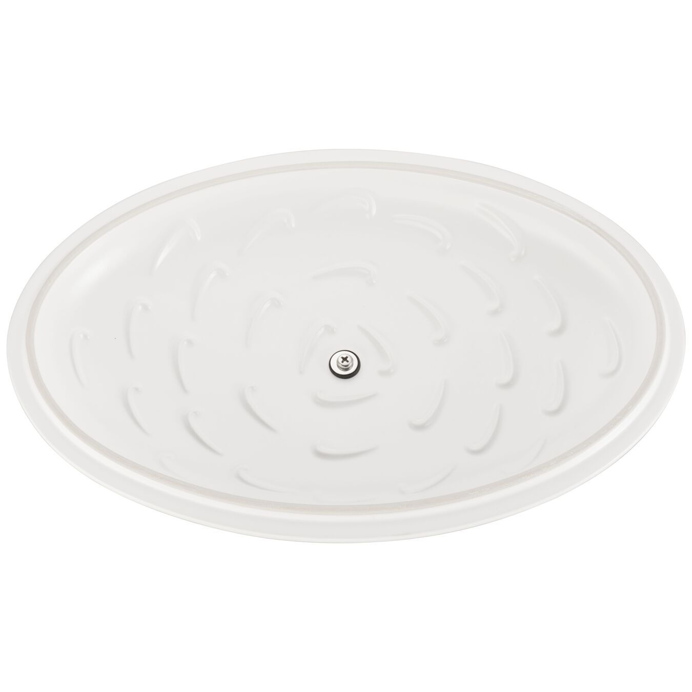 14-inch Oval Covered Baking Dish - Matte White,,large 4