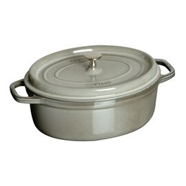 Staub Cast Iron, 1-qt oval Cocotte, Graphite Grey