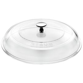 Staub Cast Iron, 11-inch Glass Lid domed made of glass