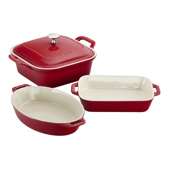 4-pc Baking Dish Set - Cherry,,large