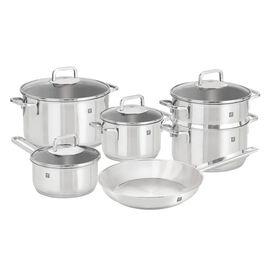 ZWILLING Quadro, 10-pcs 18/10 Stainless Steel Ensemble de casseroles et poêles