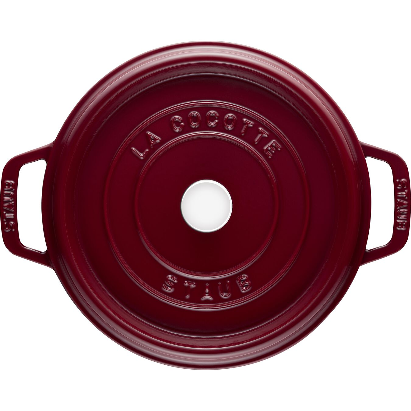 3.75 l Cast iron round Cocotte, Bordeaux - Visual Imperfections,,large 3