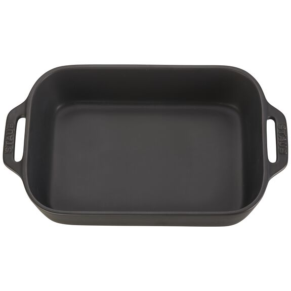 10.5-inch x 7.5-inch Rectangular Baking Dish - Matte Black,,large 3