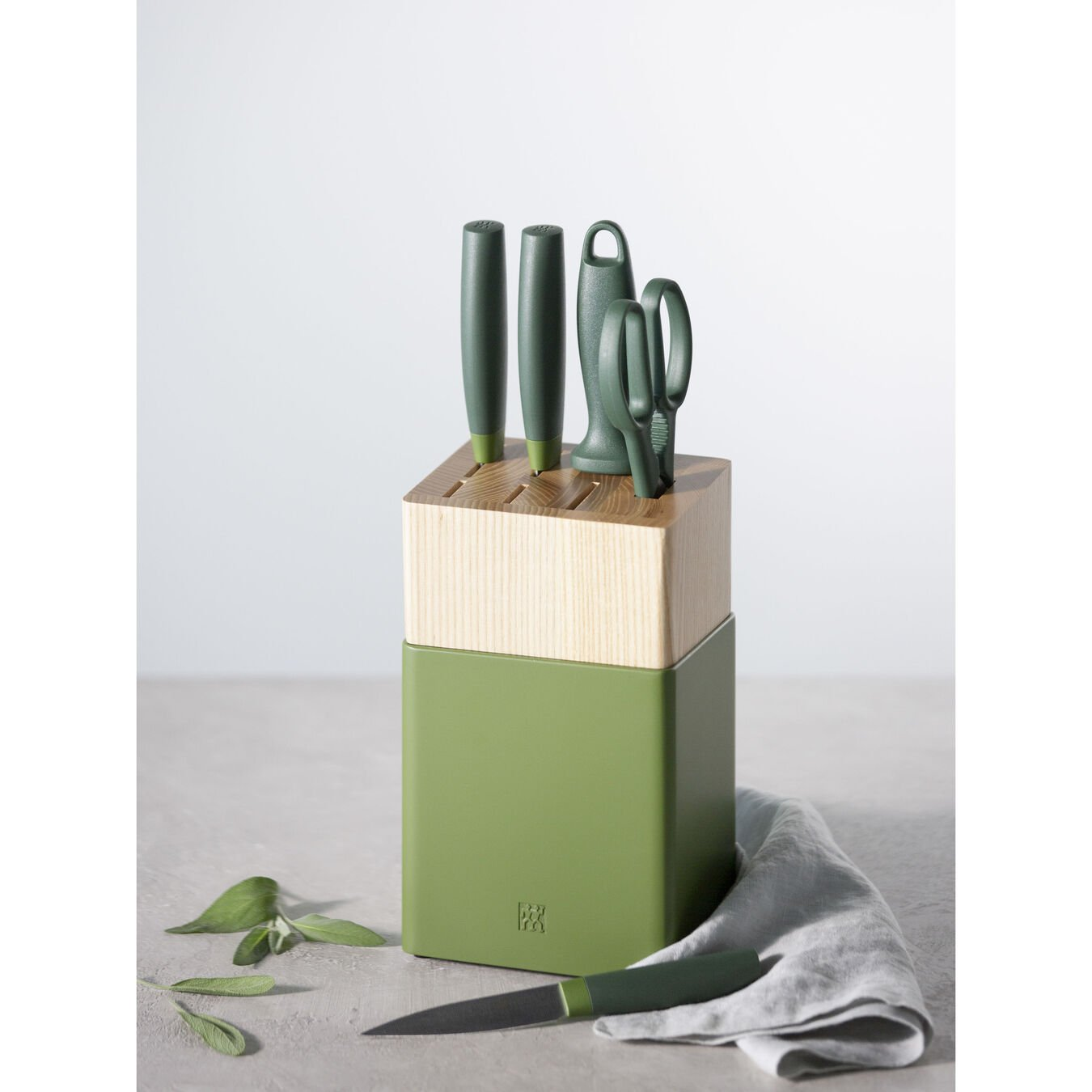 6-pc, Z Now S Knife Block Set, lime green,,large 4