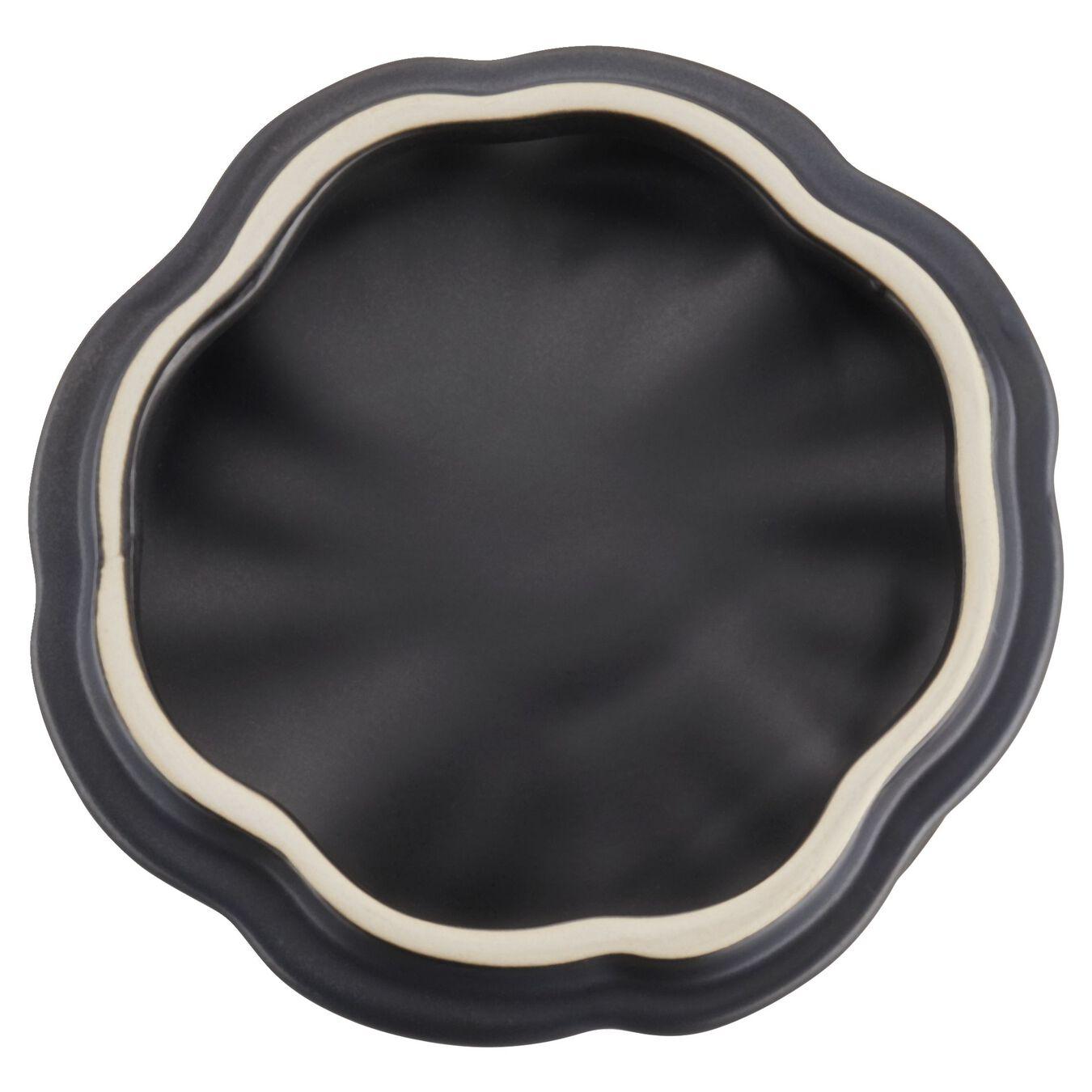 Keramik-Kürbis 0.5qt / 0.47 l - Black Matte 12 cm, Kürbis, Schwarz, Keramik,,large 10