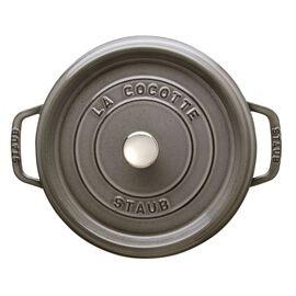 Staub Cast iron, 4-qt-/-24-cm round Cocotte, Graphite-Grey