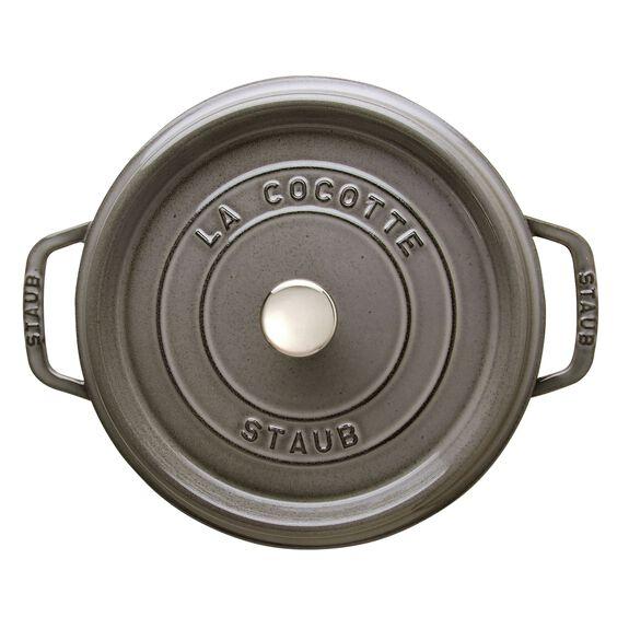 4-qt round Cocotte, Graphite Grey,,large