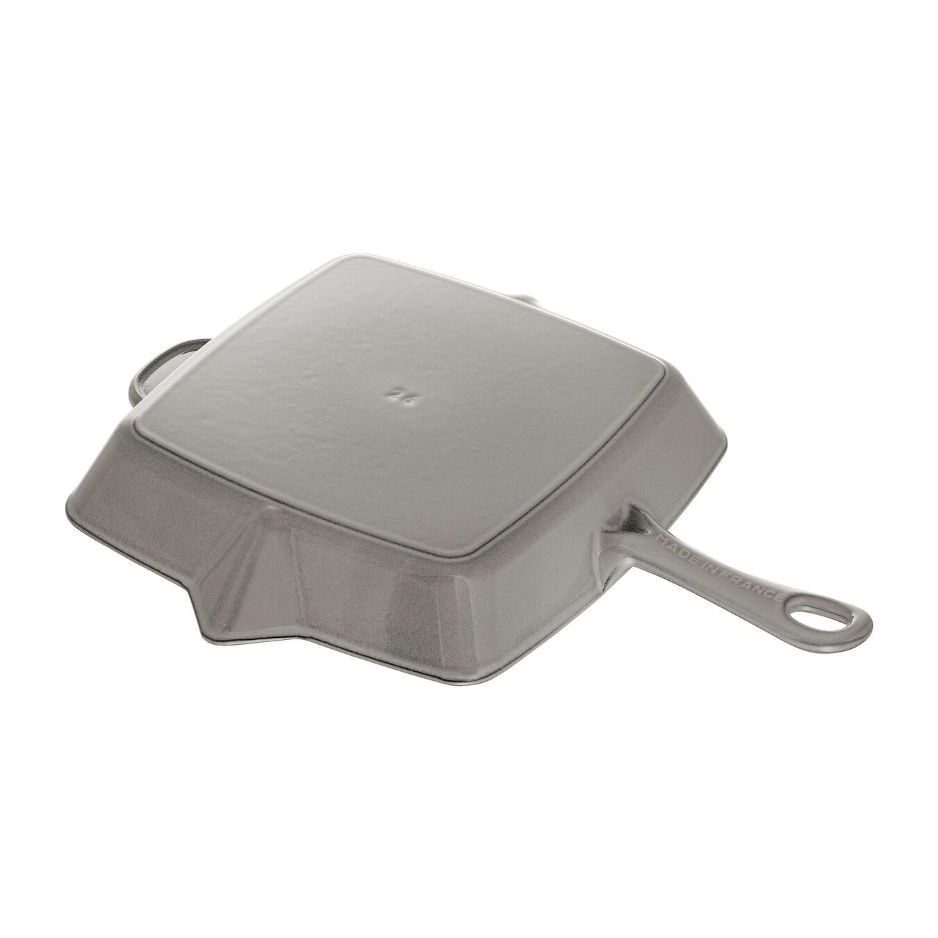 10-inch, cast iron, square, American grill, graphite grey,,large 4