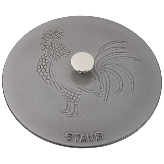 3.75-qt round French oven rooster, Graphite Grey,,large 4