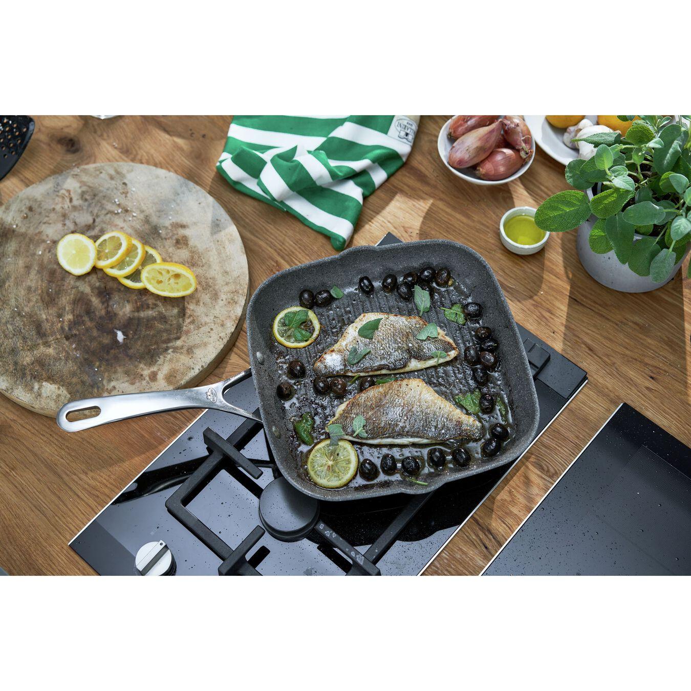 28 cm / 11 inch aluminium square Grill pan,,large 3