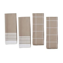 ZWILLING Accessories, 4-pc Kitchen Towel Set - Taupe