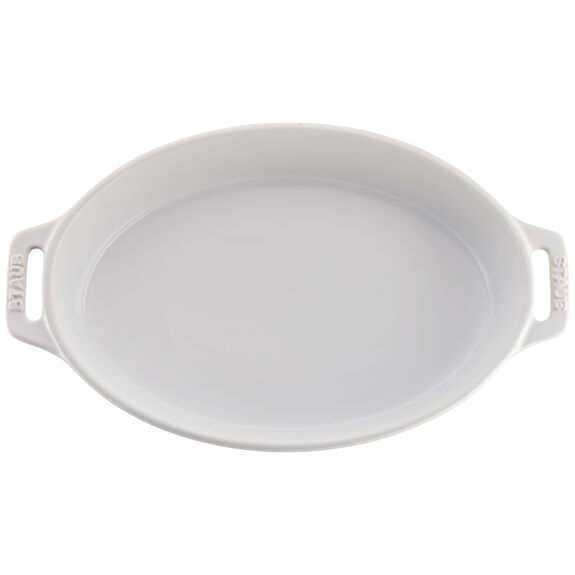 2-pc Oval Baking Dish Set, White, , large 3