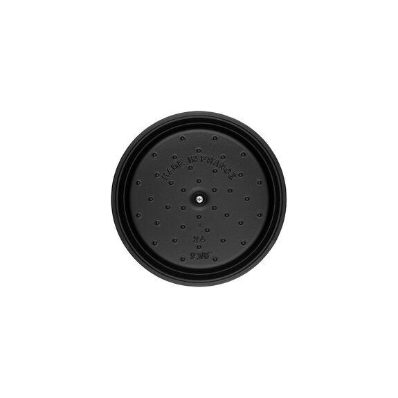 4-qt Round Cocotte - Matte Black,,large 4