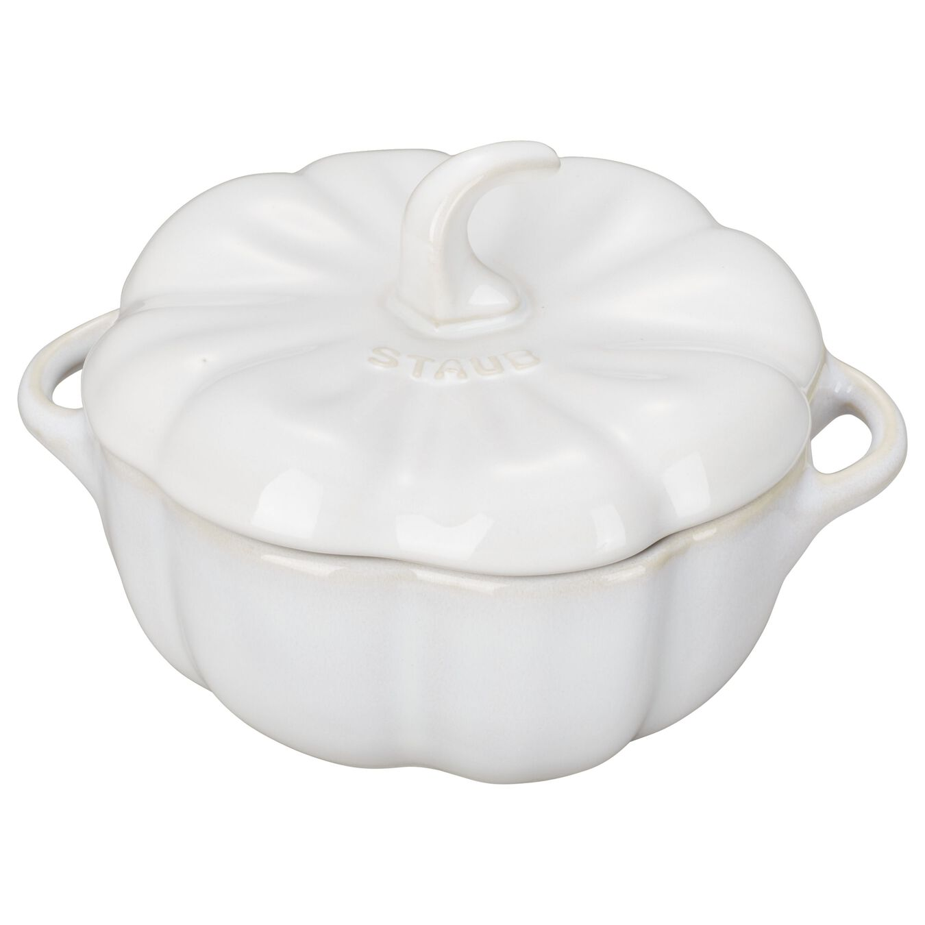475 ml Ceramic Special shape Cocotte, Ivory-White,,large 1