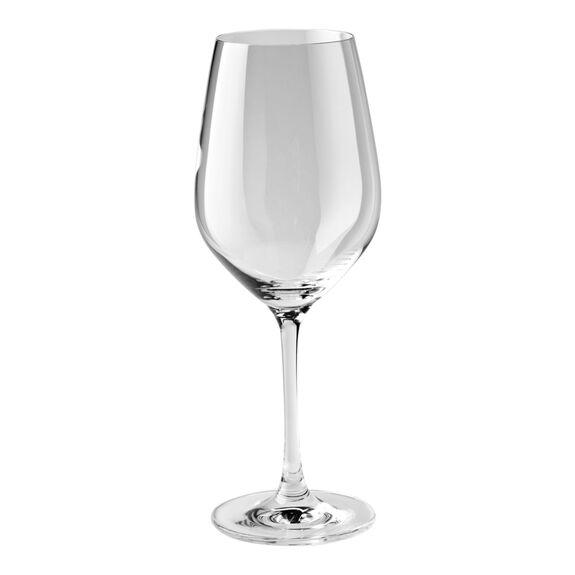 6-pc Burgundy White Glass Set,,large