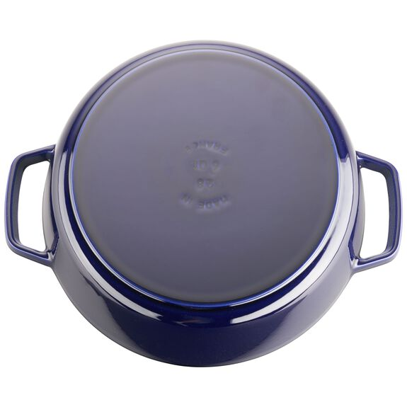 6-qt round Cocotte, Dark Blue,,large 5