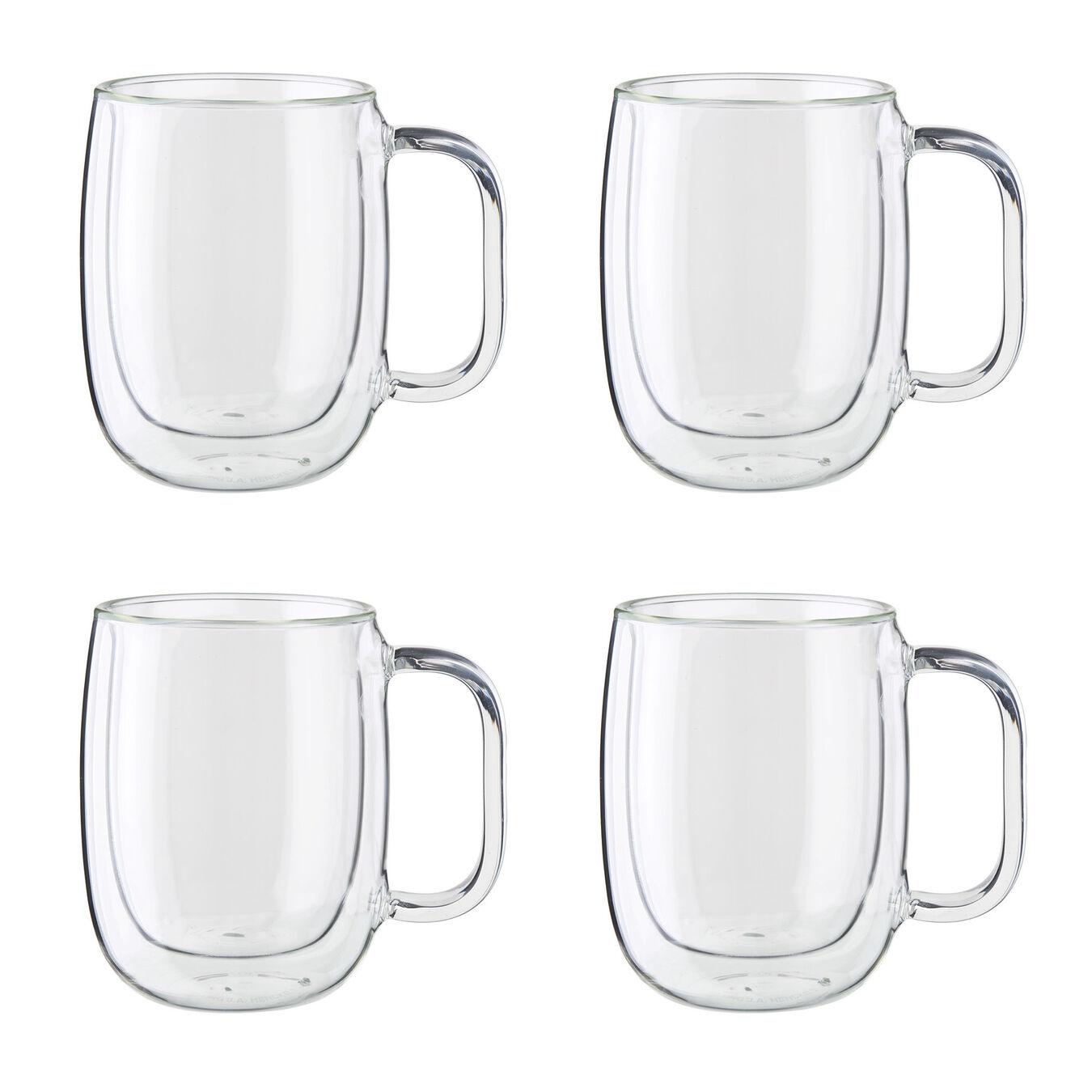 4-pc Double-Wall Glass Coffee Mug Set,,large 1