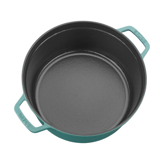 5.5-qt Round Cocotte - Turquoise,,large 2