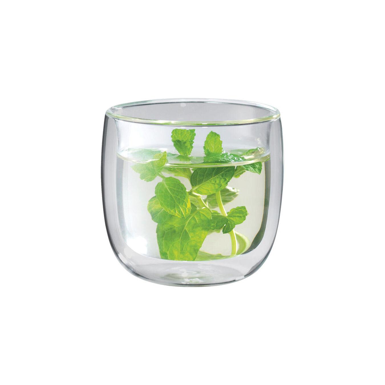 2-pc Tea glass set, Double wall glas ,,large 1