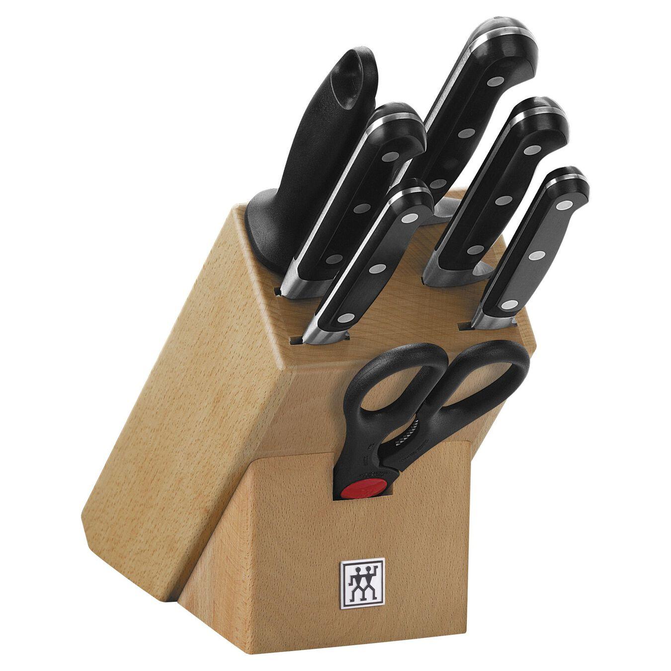 Bloc à couteaux, 8-pces, Hêtre,,large 1