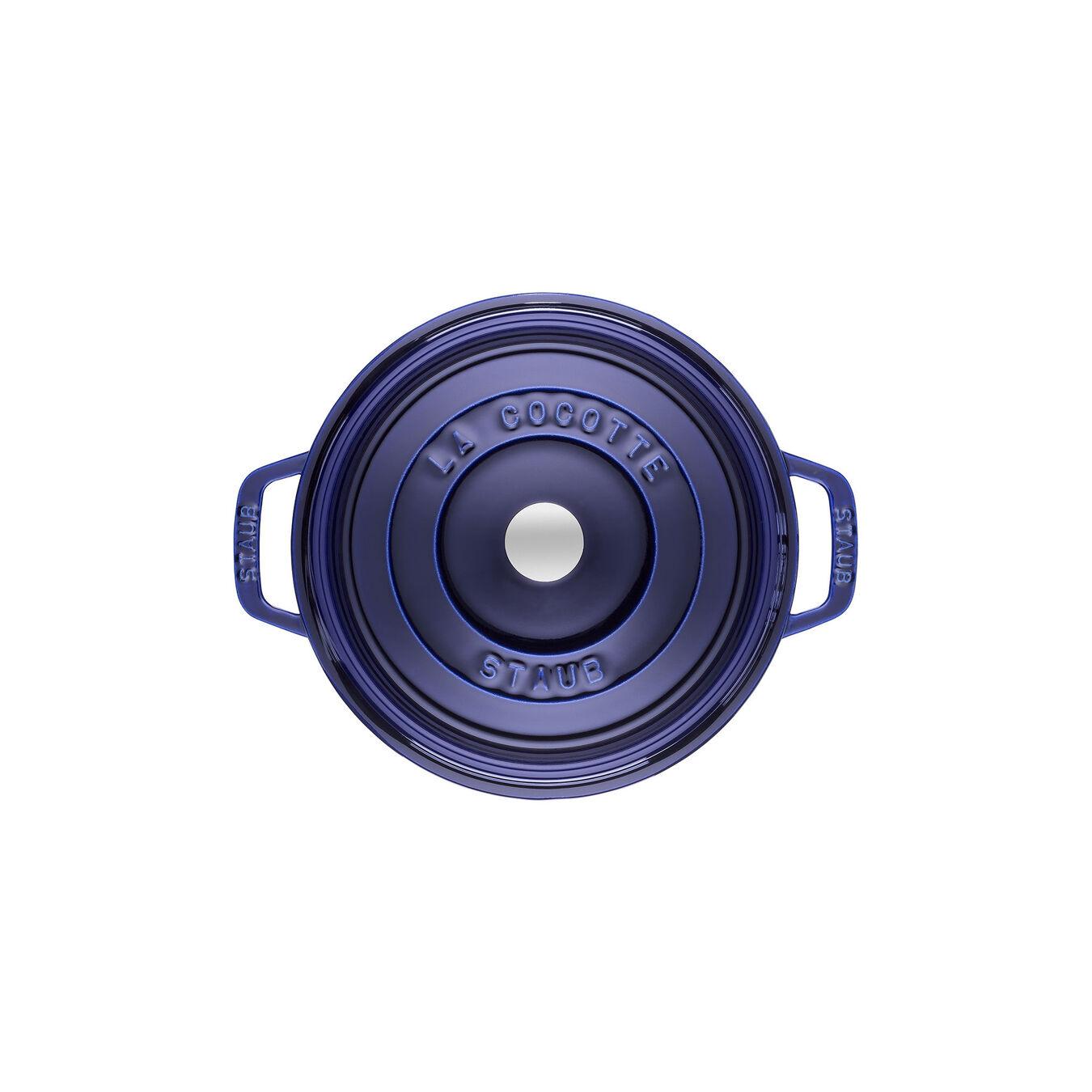 2.75 qt, round, Cocotte, dark blue,,large 2