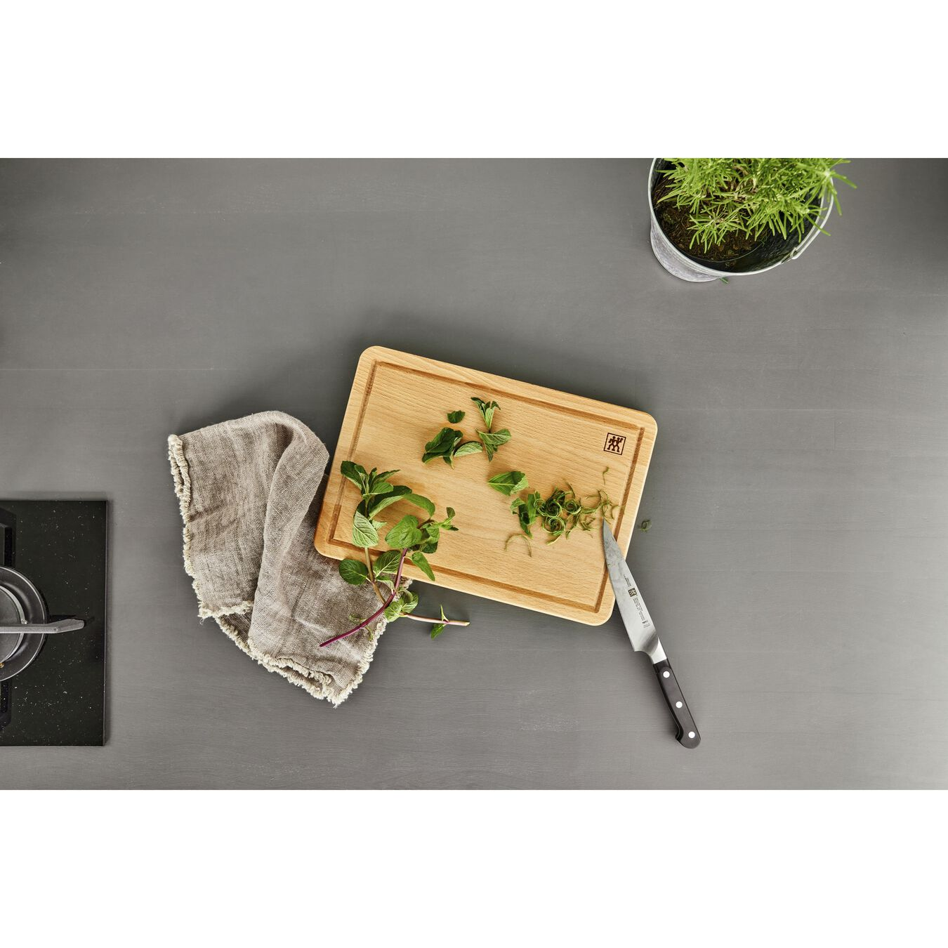 Cutting board 35 cm x 25 cm Beech,,large 2