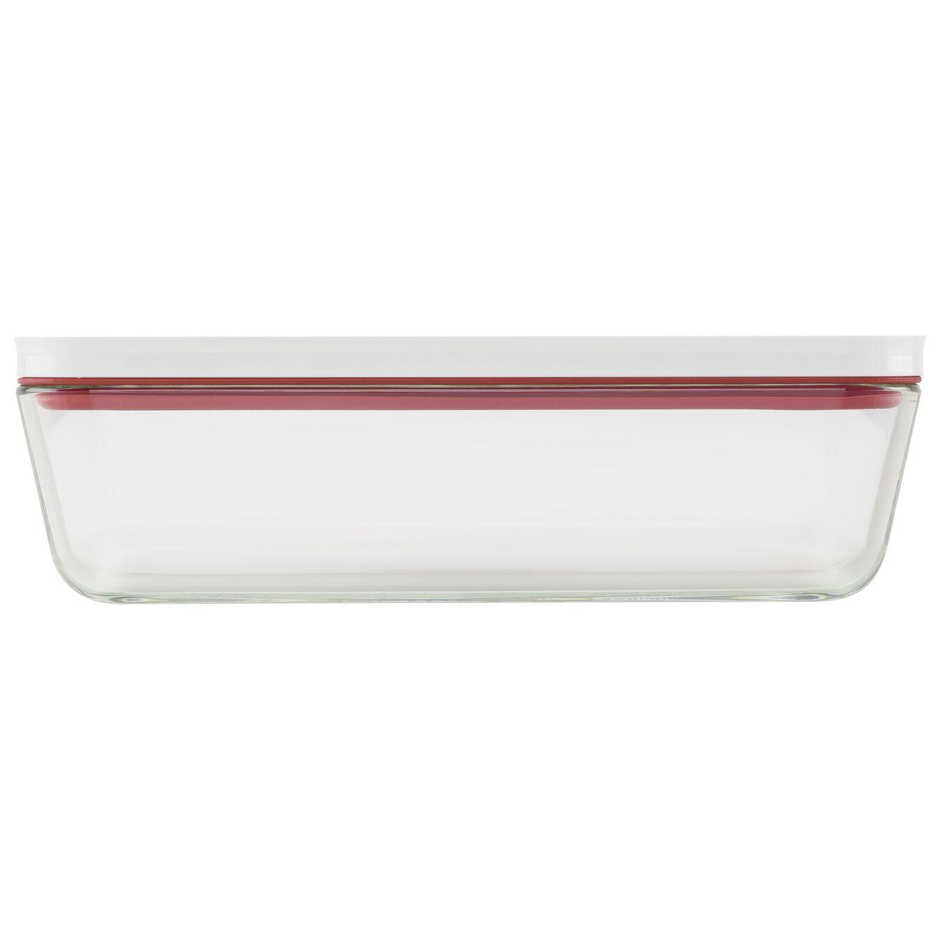 Piatto gratin sottovuoto, vetro, rosso,,large 3