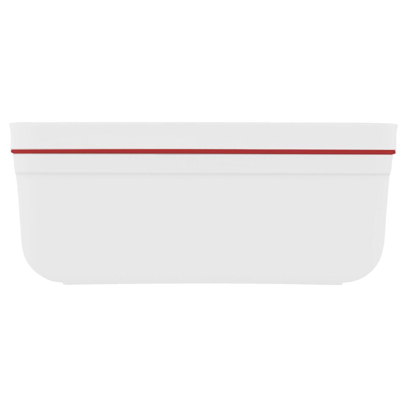 Vakuum Lunchbox, M, Kunststoff, Weiß-Rot,,large 3