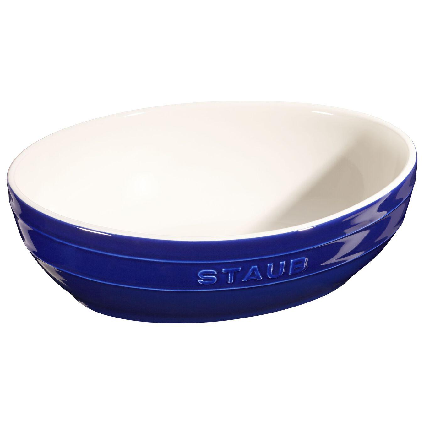 2 Piece oval Bowl set, dark-blue,,large 2