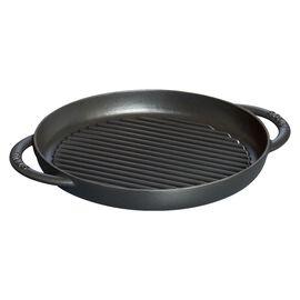 Staub Grill Pans, Pure Grill 26 cm, rund, Schwarz, Gusseisen