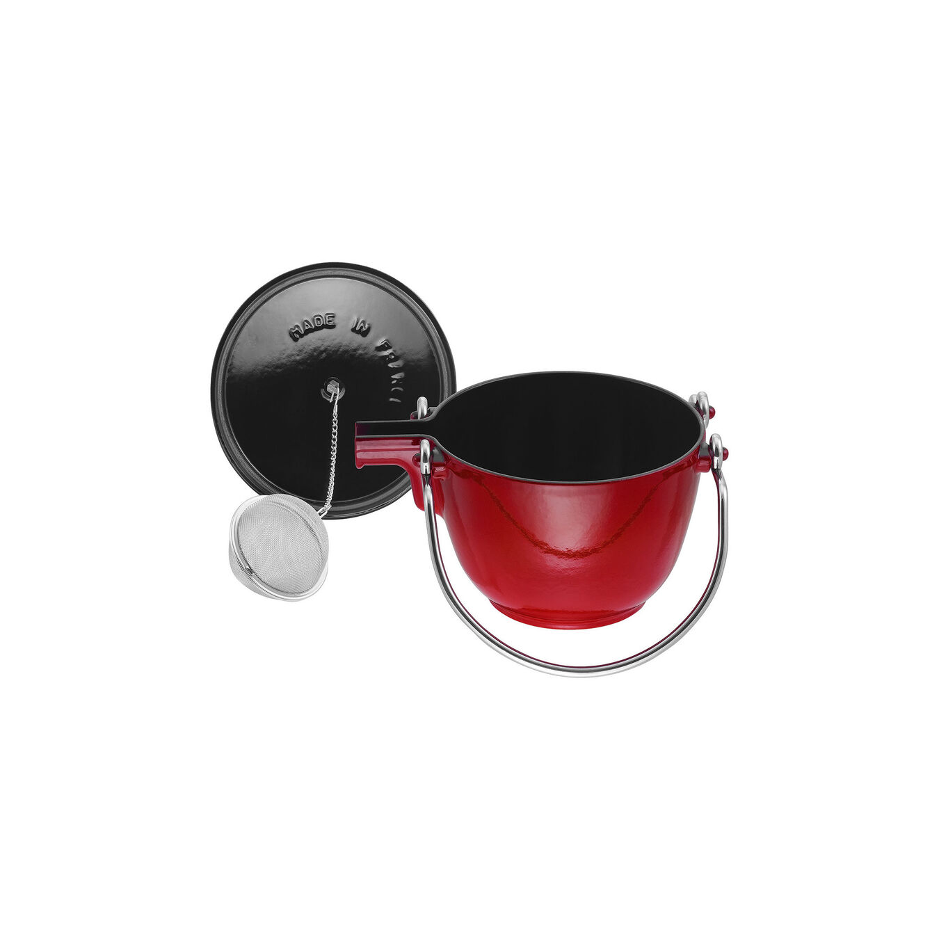 1.25 qt, round, Tea pot, cherry,,large 6