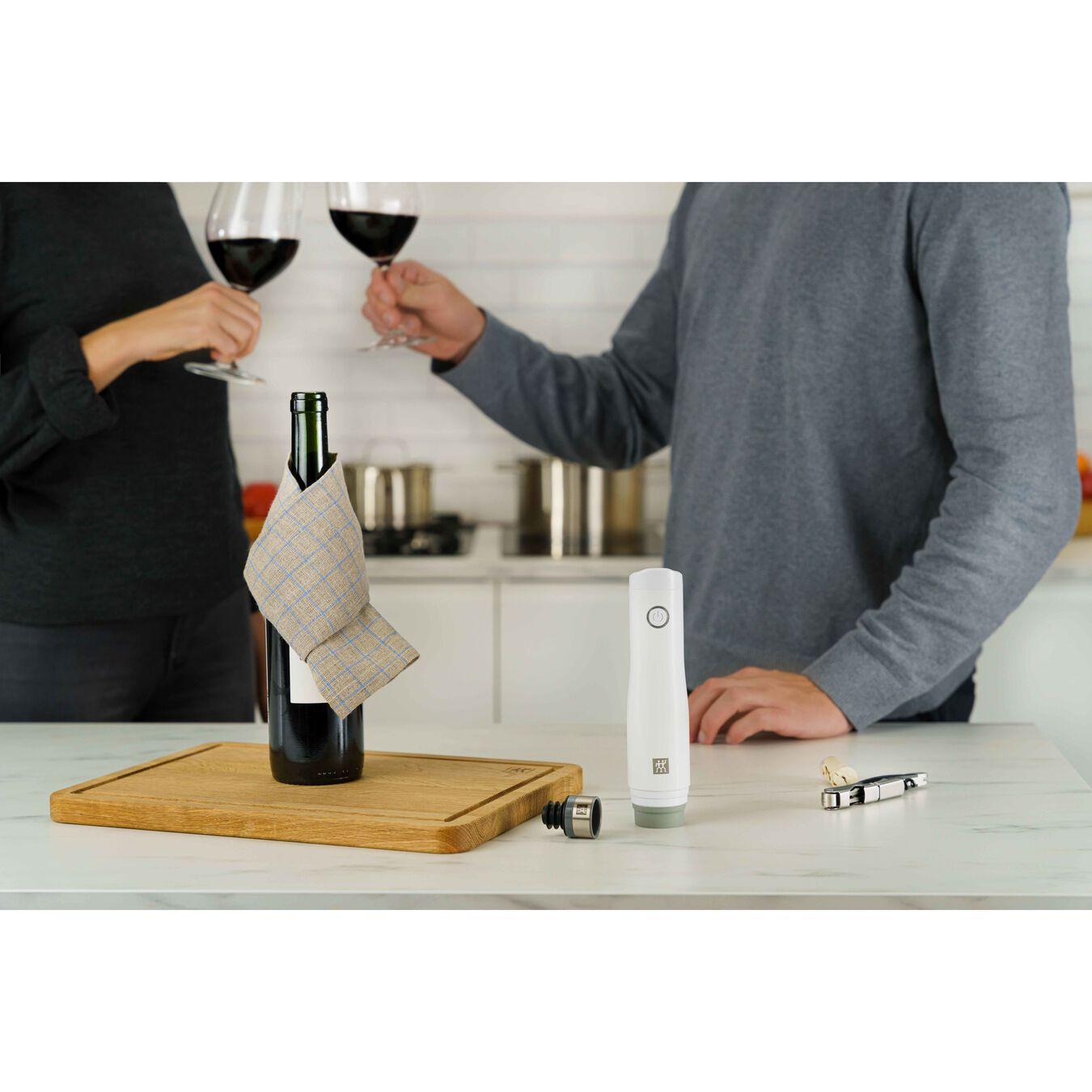 Vakuum Weinverschluss Set, 2-tlg, Grau,,large 5