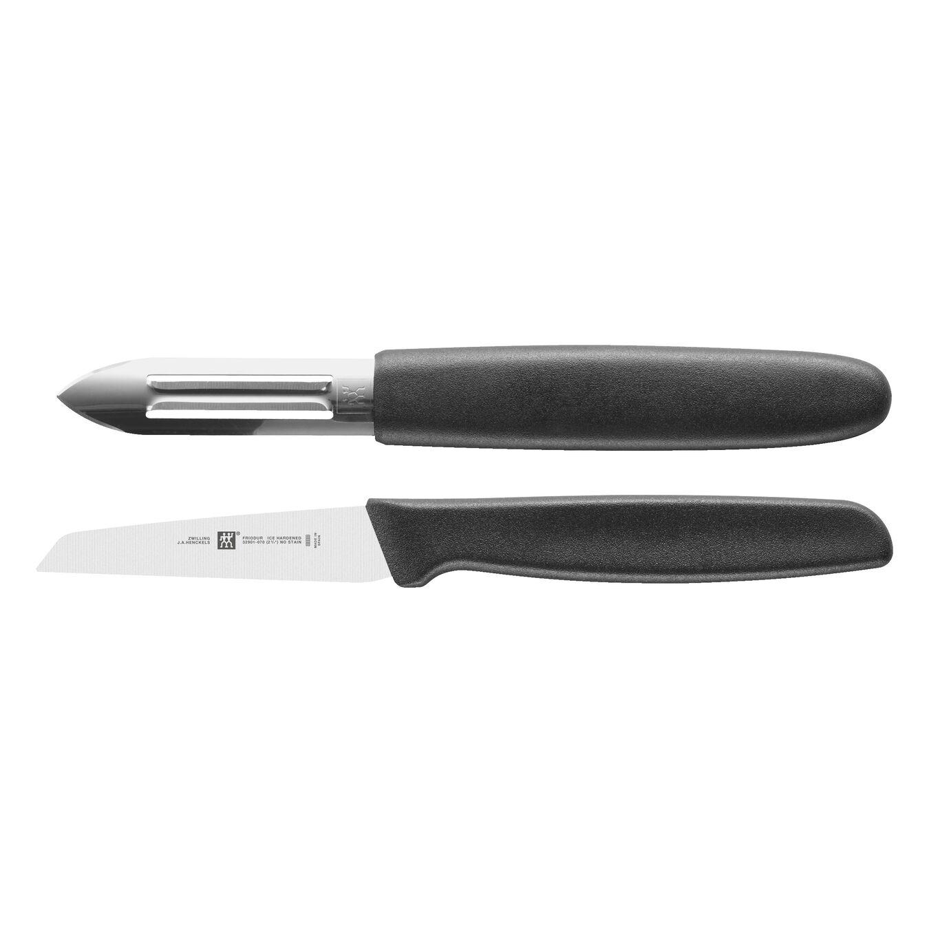 Messerset, 2-tlg. (Kunststoff, schwarz) 2-tlg,,large 1