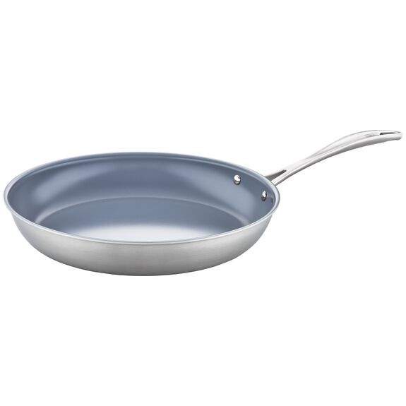 3-ply 12-inch Stainless Steel Ceramic Nonstick Fry Pan,,large
