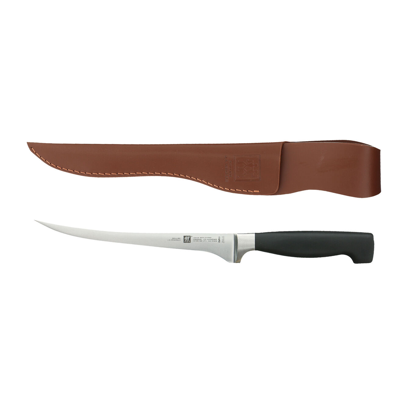 7-inch Fish Fillet Knife and Leather Sheath Set,,large 1