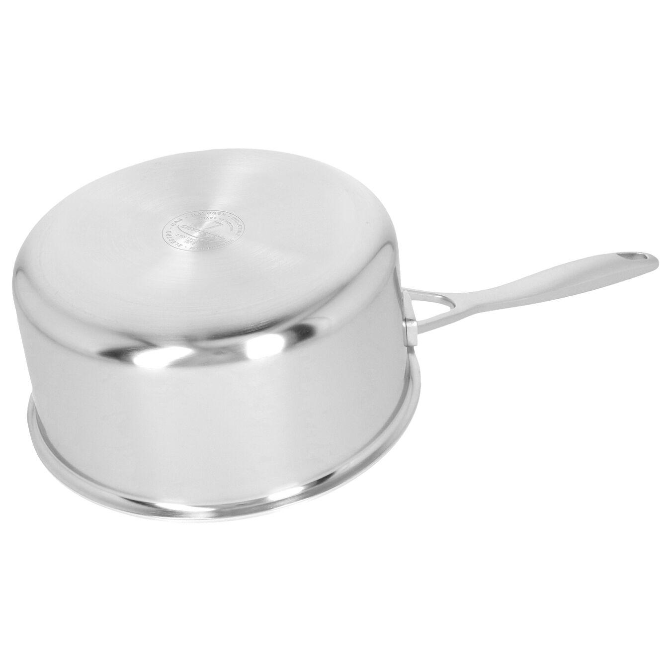Casseruola con manico con coperchio - 18 cm, 18/10 acciaio inossidabile,,large 2