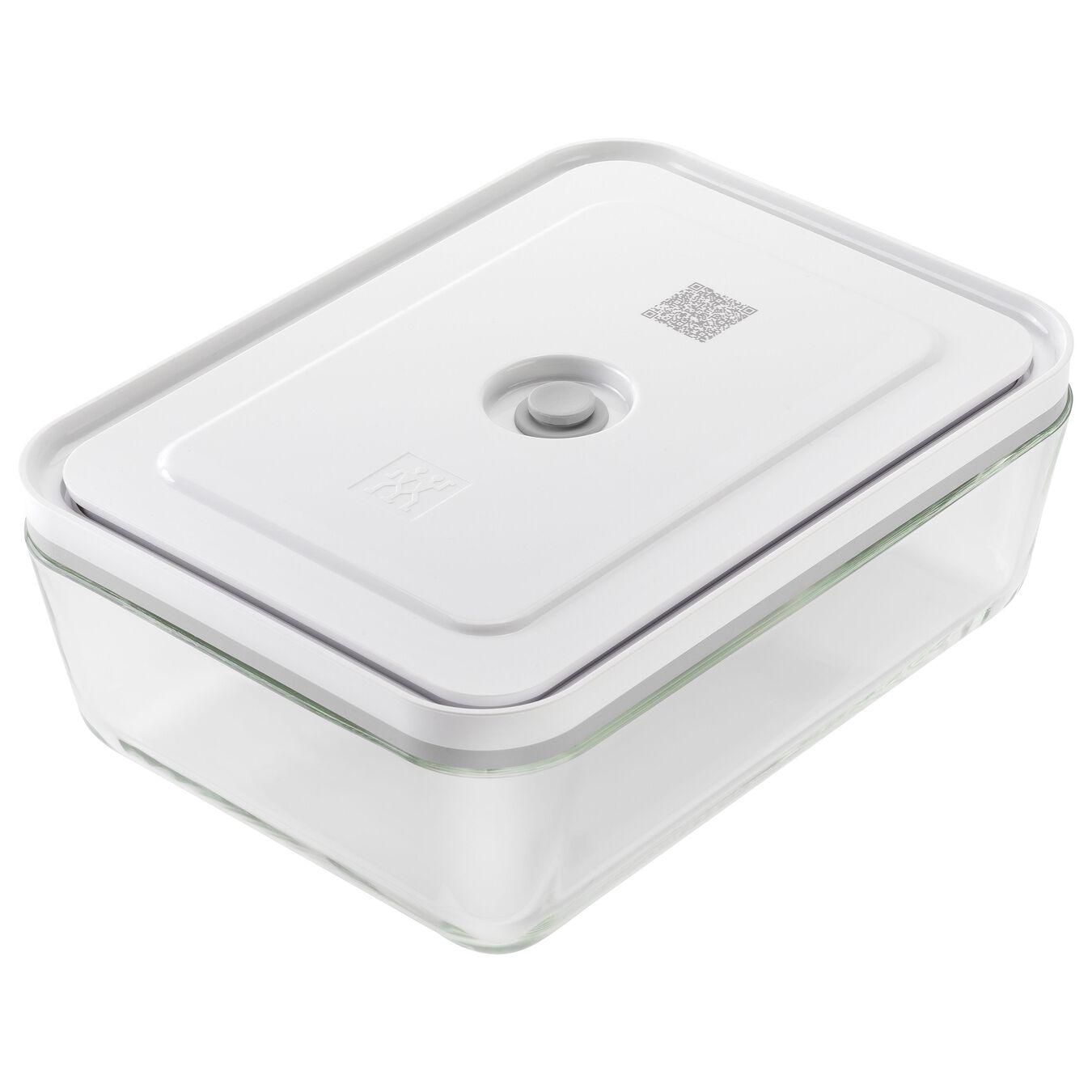 Vacuum fridge box, Borosilicate glass, white,,large 1