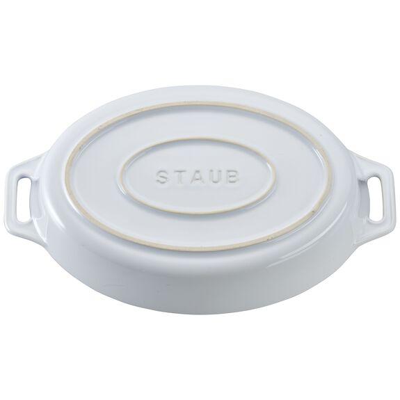 """9"""" Oval Baking Dish, White, , large 3"""
