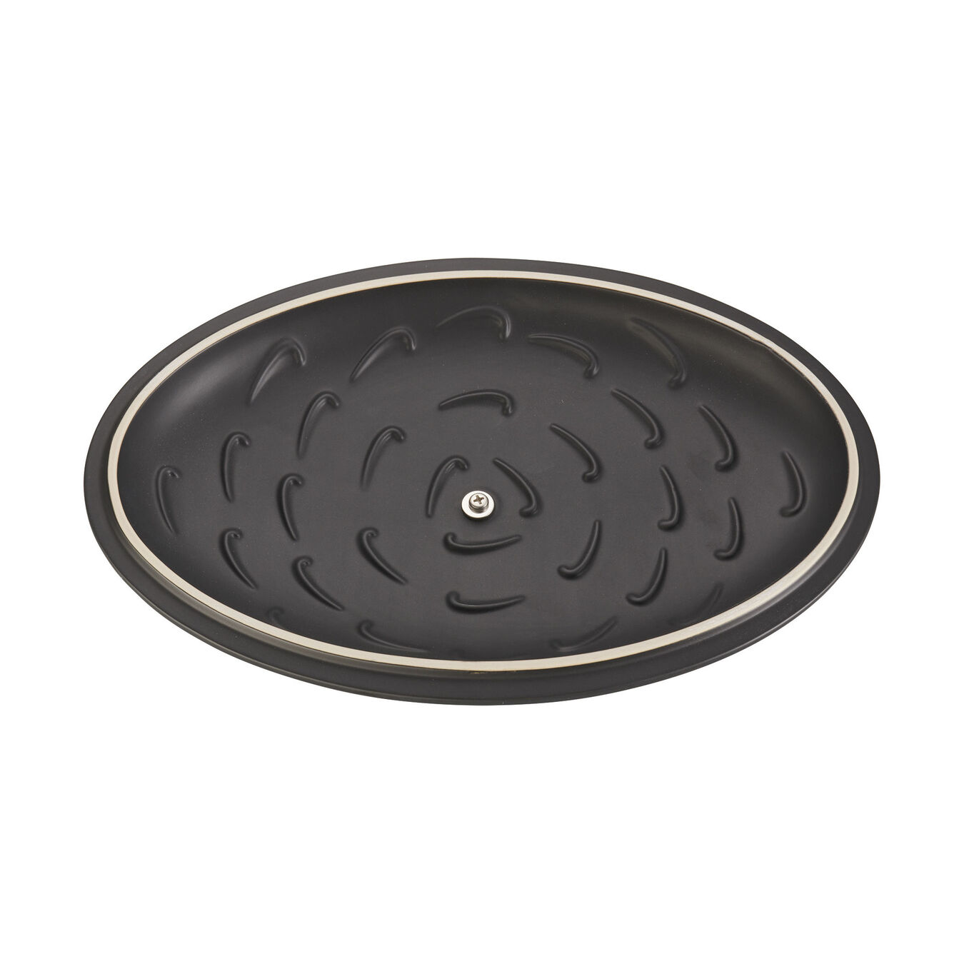 14-inch Oval Covered Baking Dish - Matte Black,,large 5