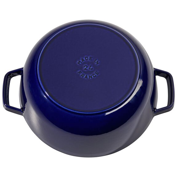 3.75-qt round French oven, Dark Blue,,large 4