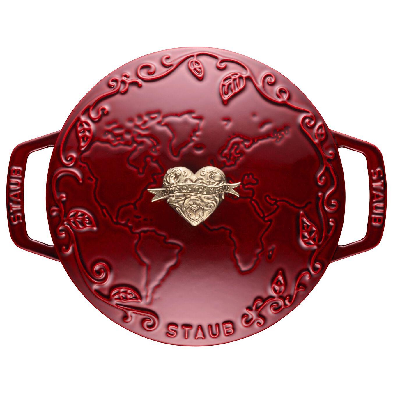 2.25 l Cast iron round Saute pan, Grenadine-Red,,large 5