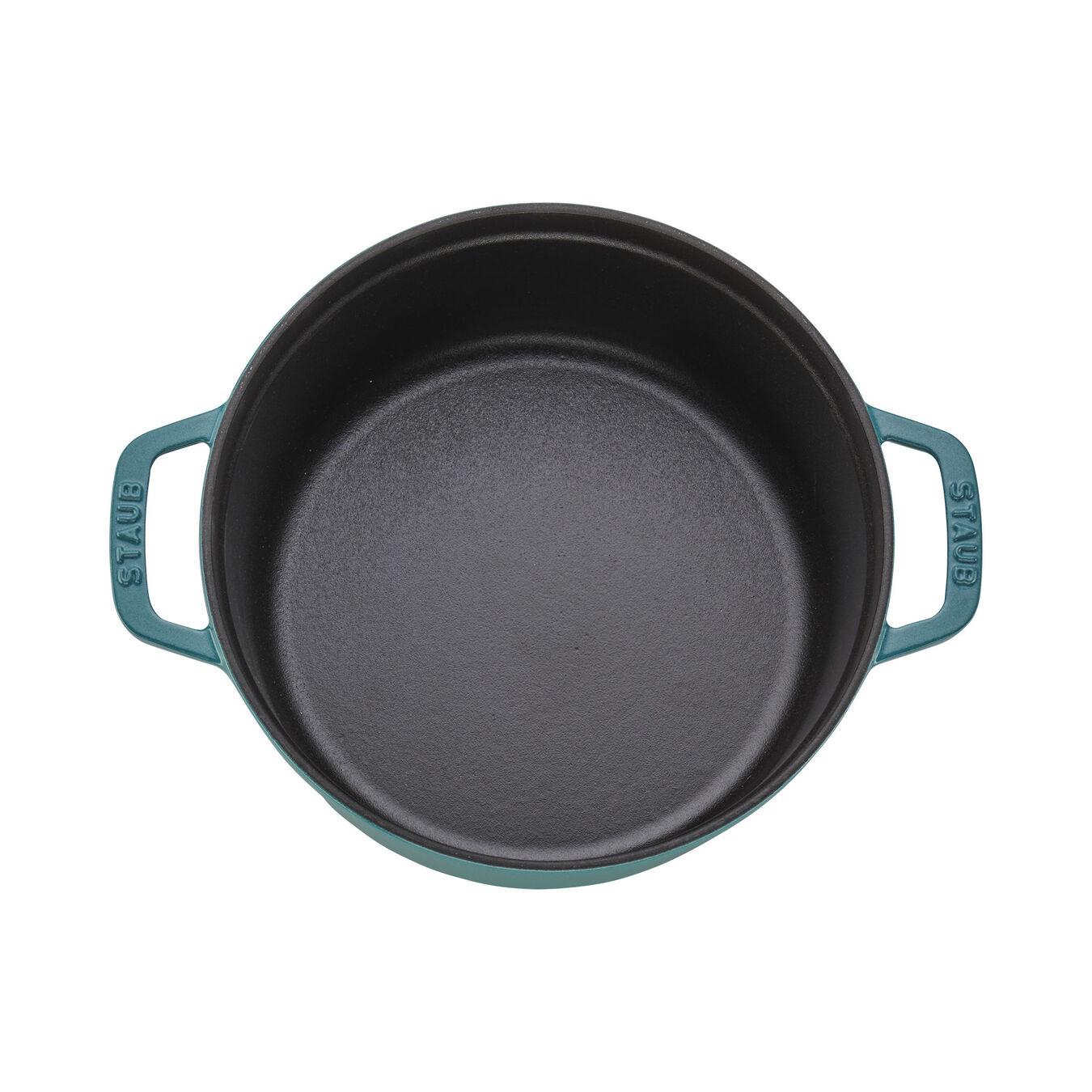 4 qt, round, Cocotte, turquoise,,large 4