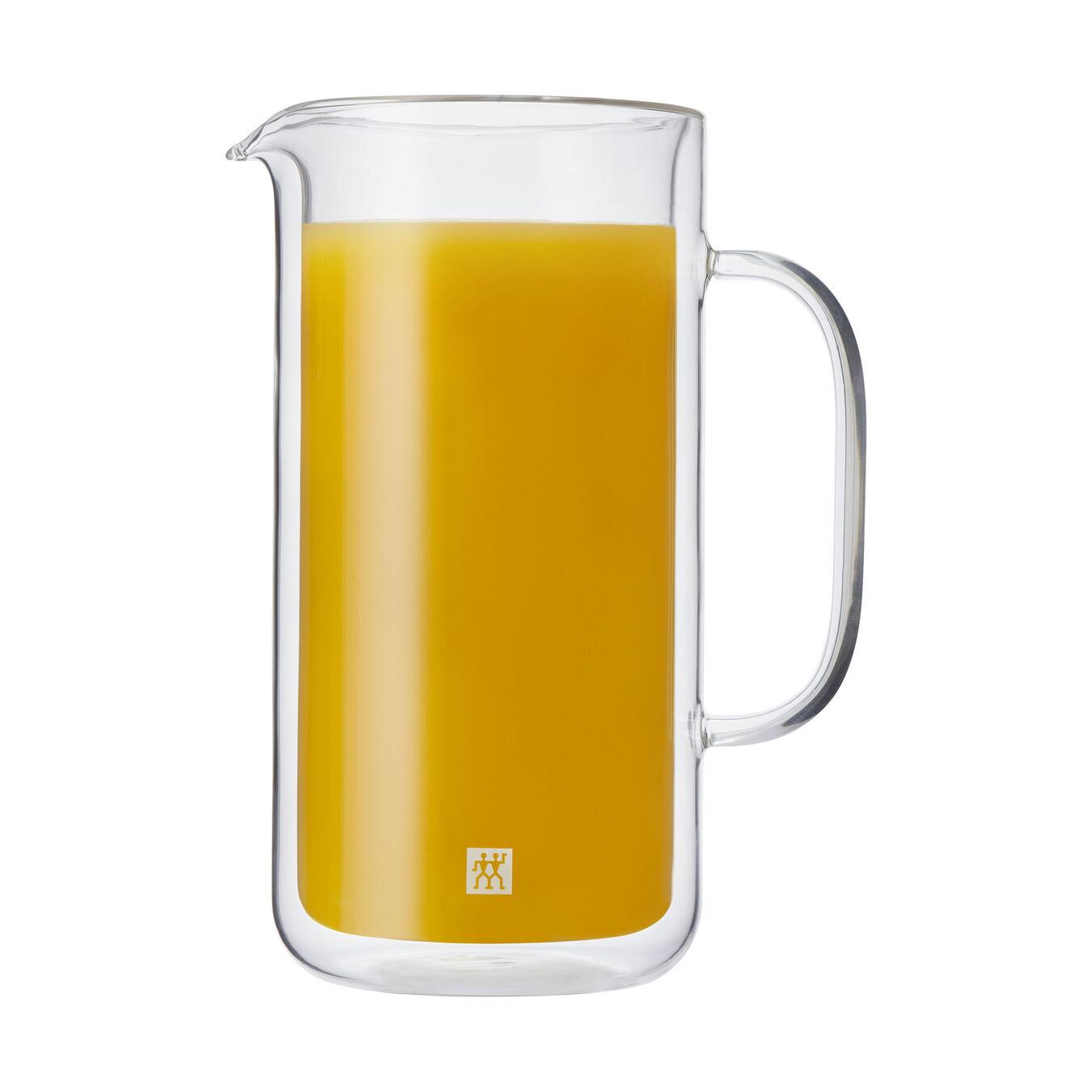 Double-Wall Glass Carafe, 800 ml | Borosilicate glass,,large 1