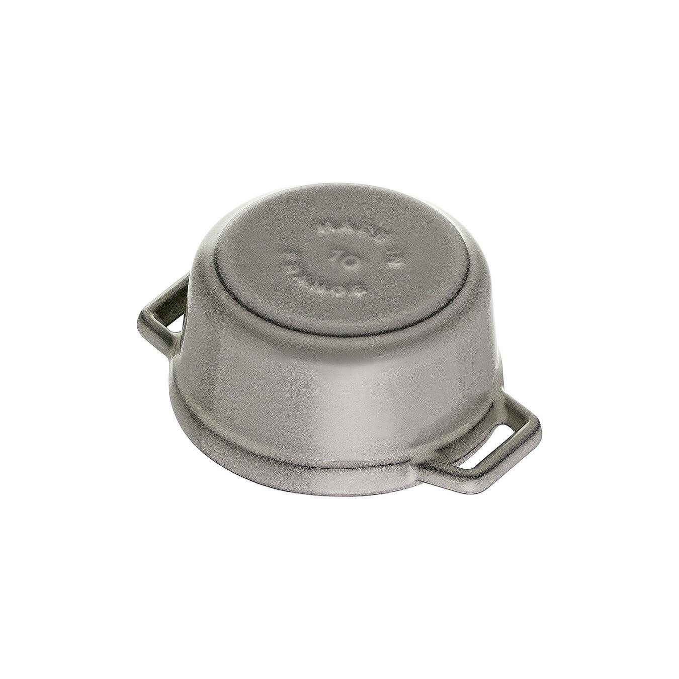 0.25-qt Mini Round Cocotte - Graphite Grey,,large 4