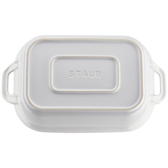 12-inch x 8-inch Rectangular Covered Baking Dish - White,,large 2