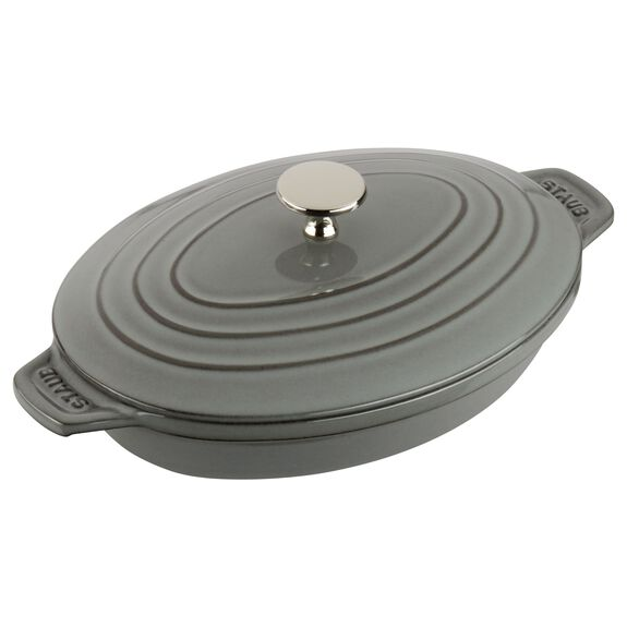 9-inch Cast iron Oven dish with lid,,large 3